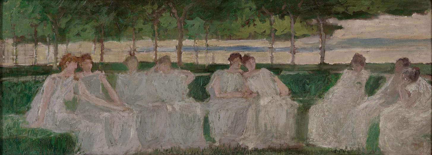 Gaetano Previati - Le muse