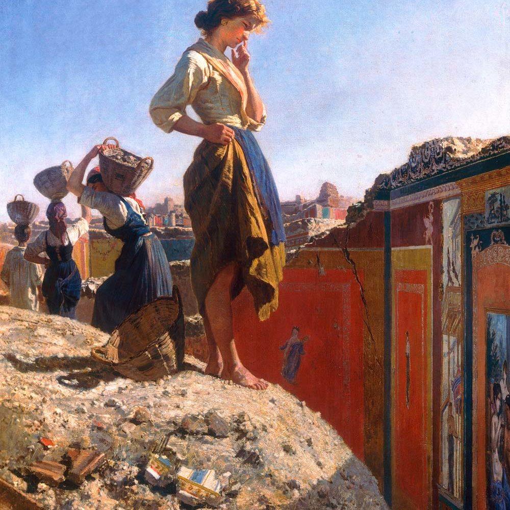 Filippo Palizzi - Scavi di pompei