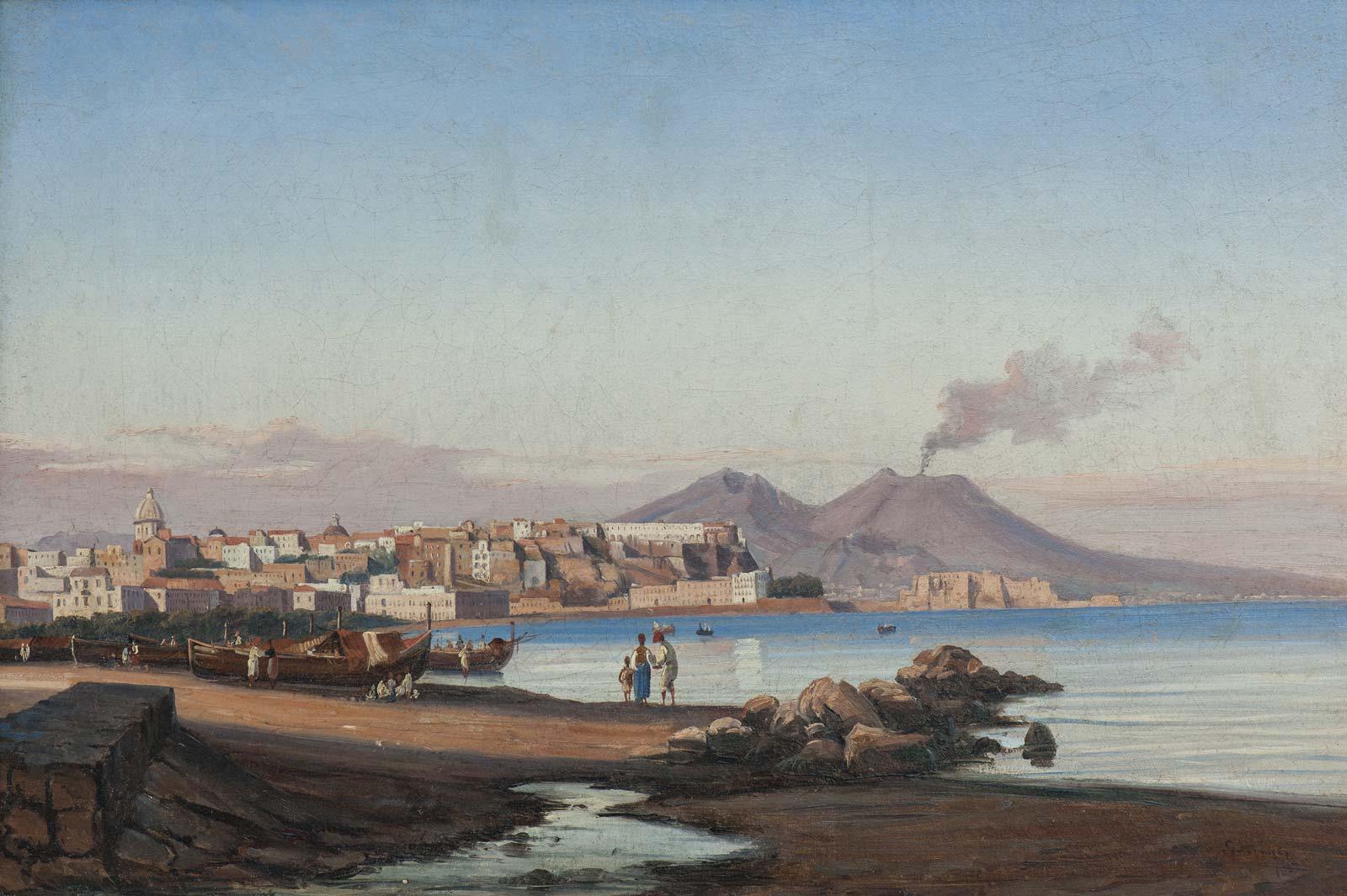 Gabriele Smargiassi - Veduta di Napoli